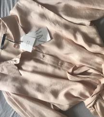 Zara satinirana košulja haljina