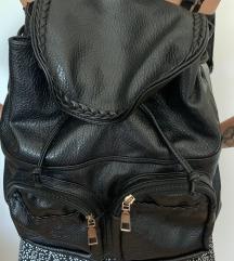 Crni kožni ruksak 🎒