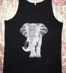 Majica bez rukava print slona