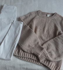 H&M traperice i oversize vesta