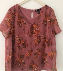 Mango crvena majica s floralnim uzorkom