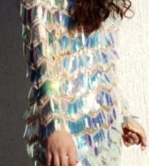 Mini efektna haljina