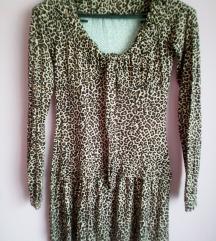 Novo! Tigrasta mini rastezljiva haljina,M