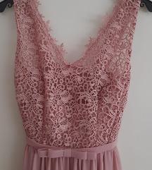 Svečana ružičasta haljina