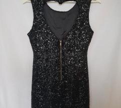 Crna haljina sa šljokicama*pt uključena*