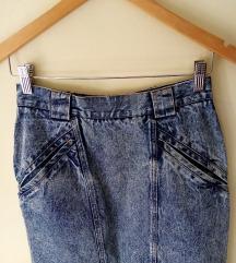 Vintage traper suknja, smal