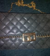 Nova sivo zlatna torbica novčanik