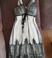 AKCIJA Bijelo crna haljina