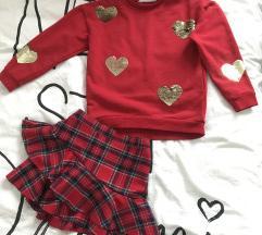 H&M Set majica i suknja 134/140