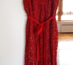Duga crvena haljina (nova, nenošena)