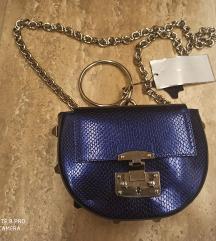 Mona nova plava kozna torbica