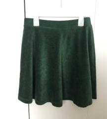 Tamno zelena suknjica uklj pt