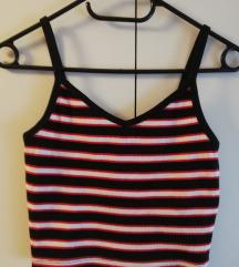 Prugasta majica (crop top)
