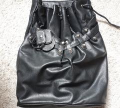 Kožna bucket torba novo!