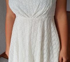 Bijela haljina, srce izrez