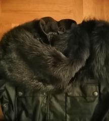 Knutsford jakna waxed toplija s pravim krznom