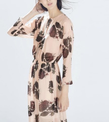 Zara maxi floral haljina
