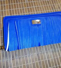 Plavi novčanik sa resicama