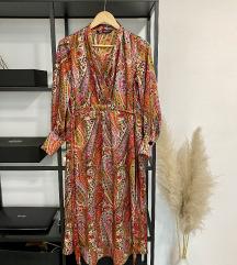 Zara šarena midi print haljina