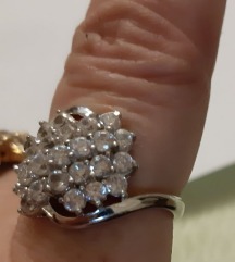 Prsten srebro i cirkoni