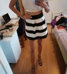 Suknja crno bijela