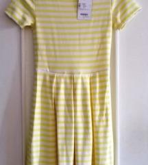 Haljina na žute prugice