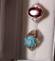 Vintage srebrni prsten sa kamenom