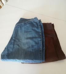 2x trudničke ljetne hlače