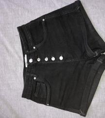 ZARA crne kratke hlače visokog struka
