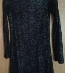 Crna haljina čipka