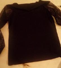 crna majica mrezastih rukava-kao nova
