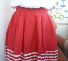 Vintage mornarska crvena suknja