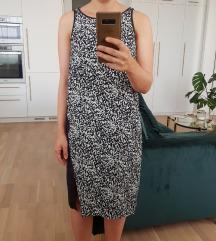 Mango crno-bijela haljina