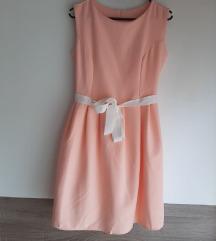 Breskva haljina s kajišem