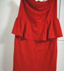 Crvena peplum haljina