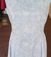 Svijetlo plava poslovna haljina