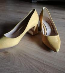 zara žute cipele na petu