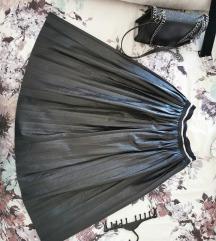 Kožna maxi suknja
