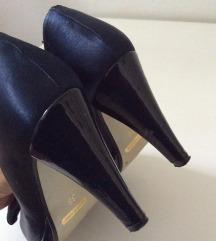 Tamnoplave satenske cipele