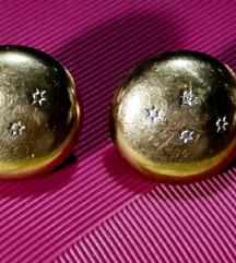 Zlatne naušnice 333 s dijamantima