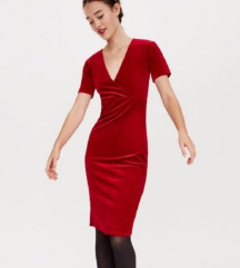Crvena zara midi haljina