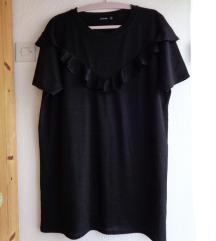 Crna haljina/tunika s volanima