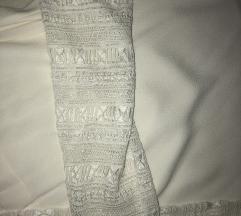 Bijela kosulja siroki rukavi pleteni