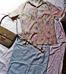 Sako blazer natkošulja i suknja vintage komplet