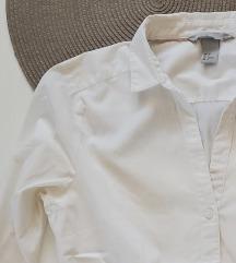 H&M bijela strukirana košulja