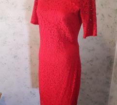 Orsay crvena svečana čipkasta haljina