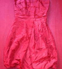 Nova crvena Charif satenska koktel haljina