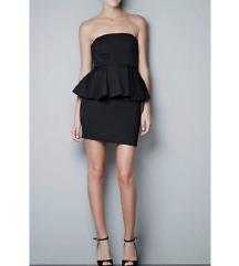 Zara peplum crna haljina