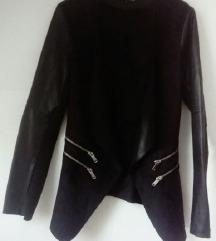 Crna kožna jakna S 36 novo