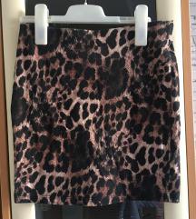 Pull&Bear bandage leopard suknja